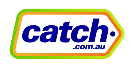 Catch.com.au logo with cashback rate information