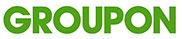 Groupon logo with cashback rate information