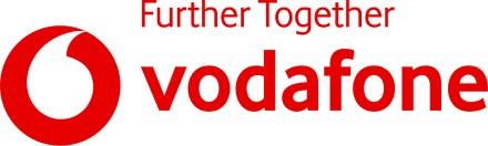 Vodafone logo with cashback rate information